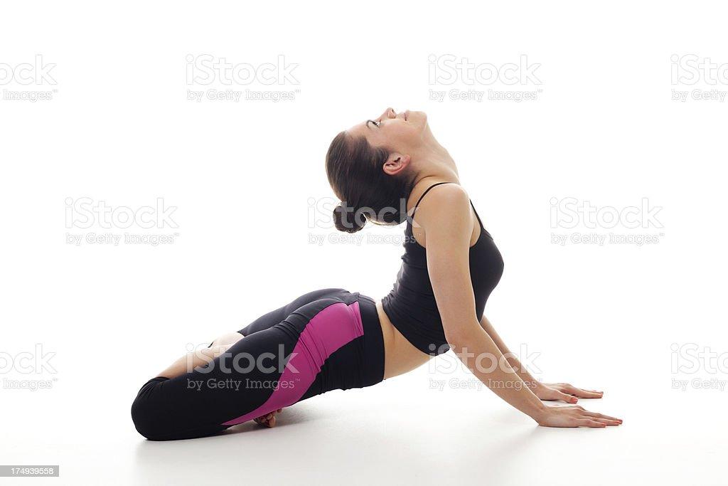 Young woman exercising yoga royalty-free stock photo