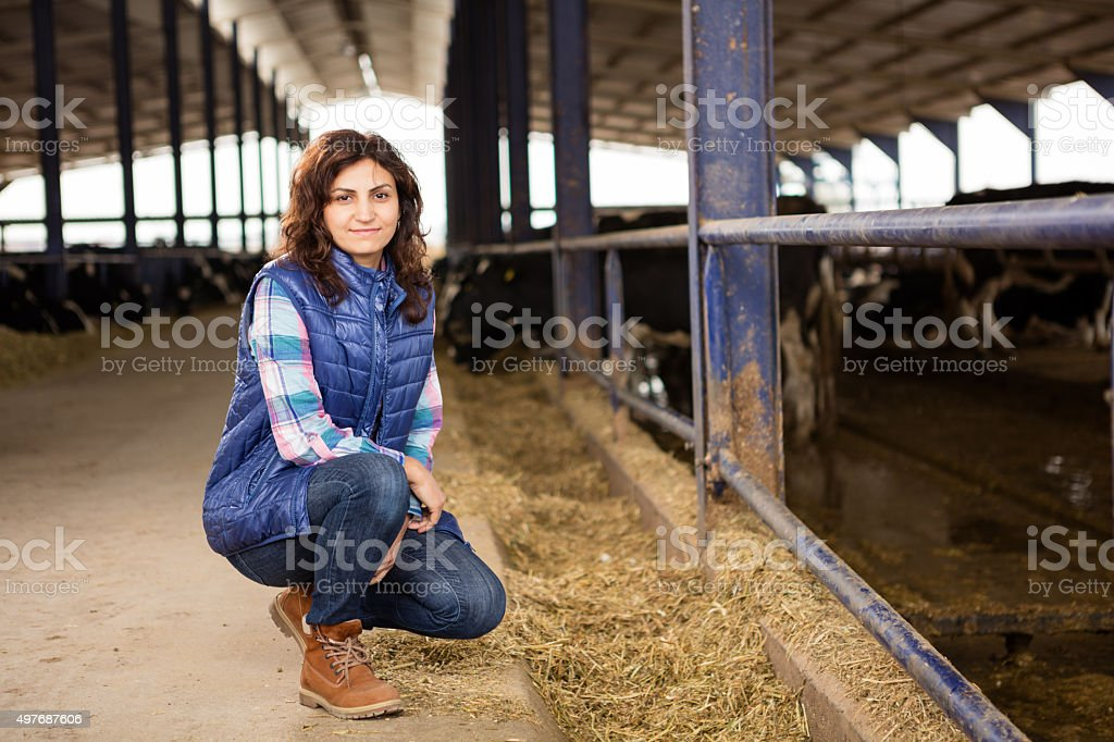 Young Woman Farmer stock photo