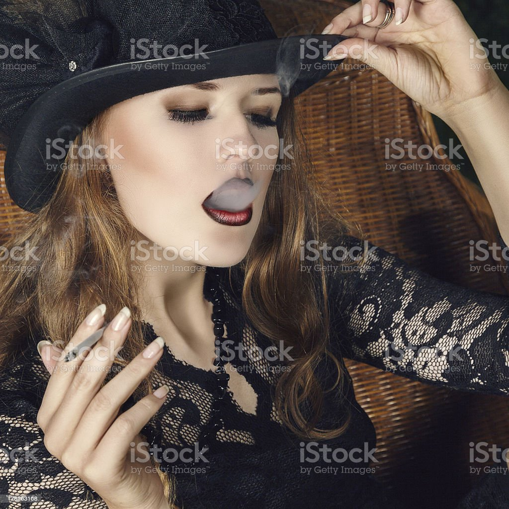 Young woman fashion portrait royalty-free stock photo