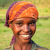 Young Woman from Borana tribe, southern Ethiopia, Africa