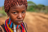 Young woman from Hamer tribe, Ethiopia, Africa