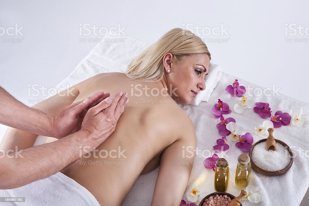 Young Woman Getting Message royalty-free stock photo