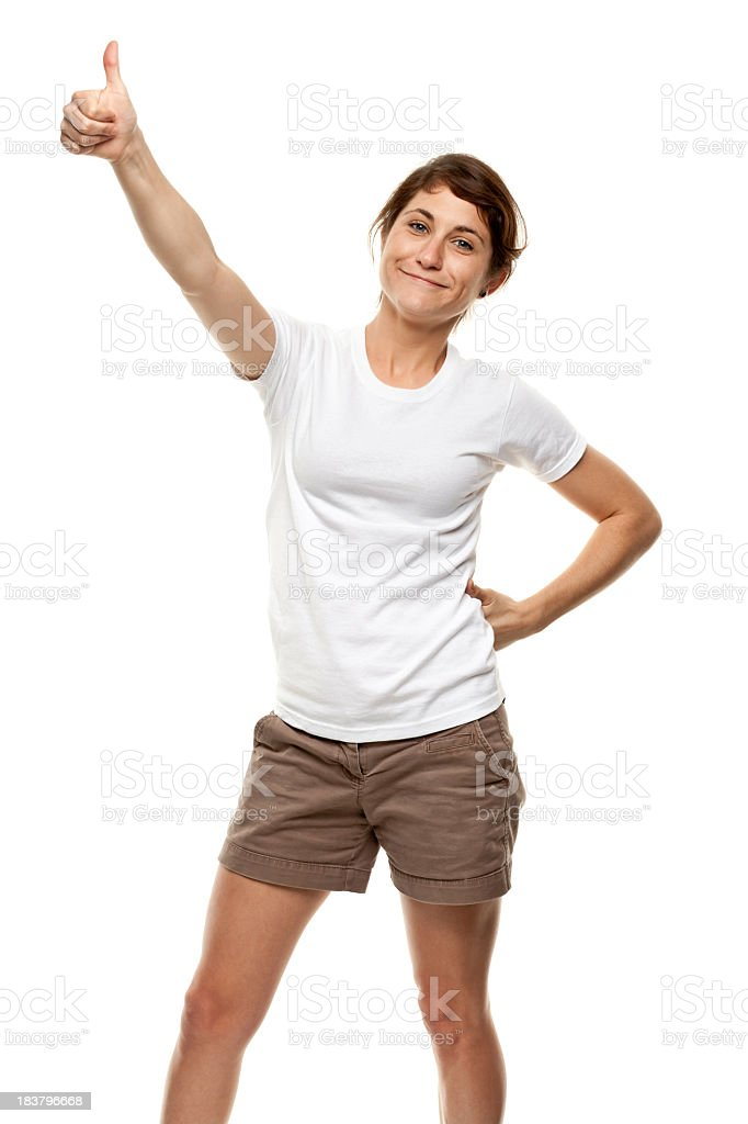 Young Woman Gives Thumbs Up royalty-free stock photo