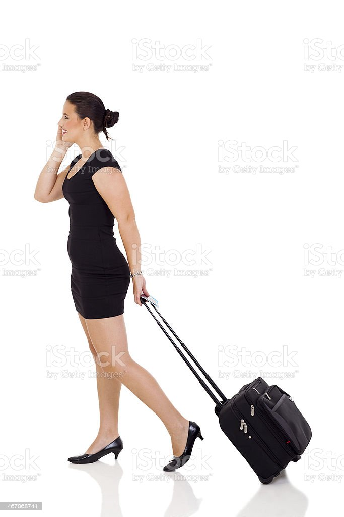 young woman going on a business trip royalty-free stock photo