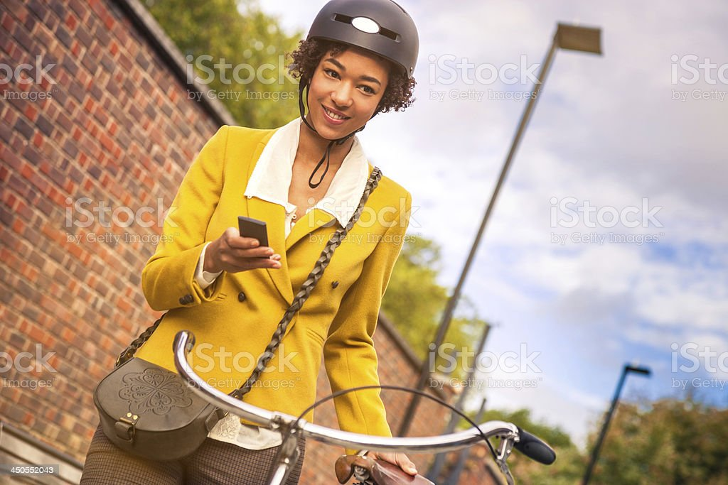 Young woman going to work royalty-free stock photo