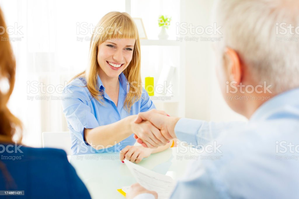 Young Woman Got Hired. royalty-free stock photo