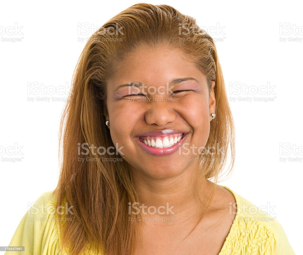 Young Woman Grinning royalty-free stock photo
