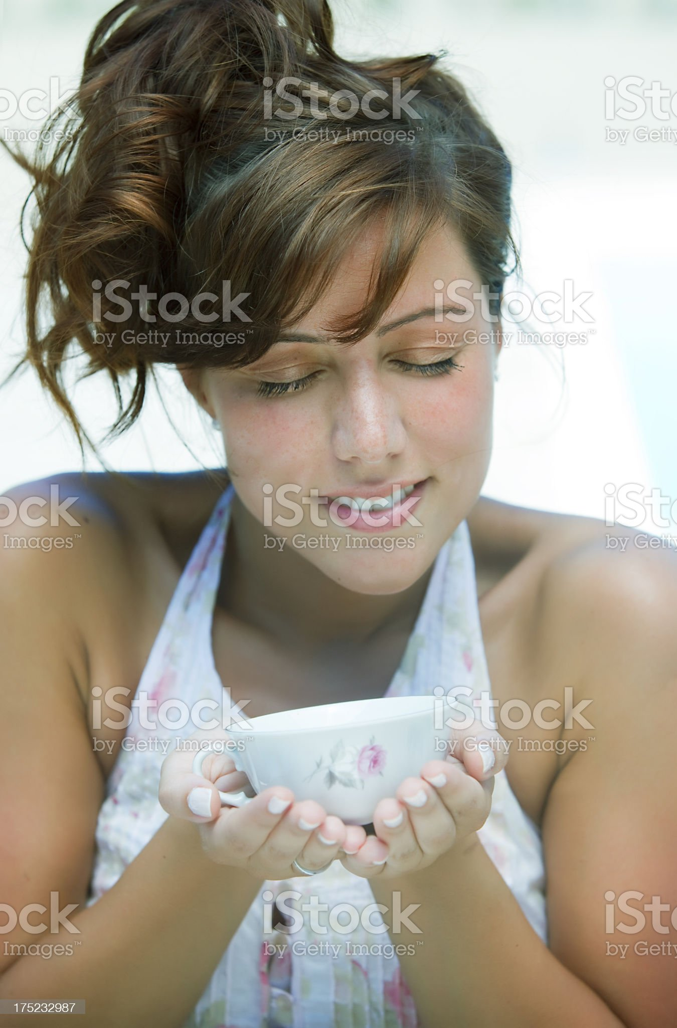 Young Woman Having Breakfast royalty-free stock photo