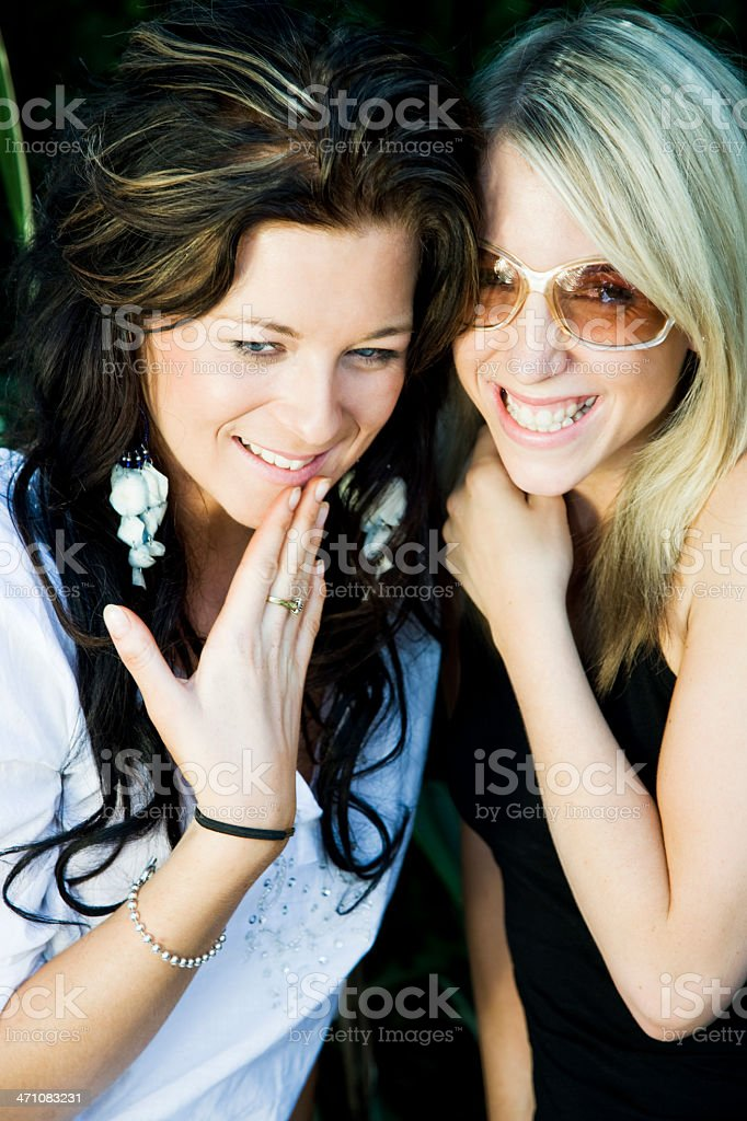 young woman having fun together stock photo