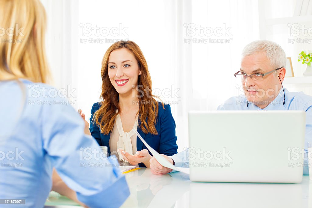 Young Woman Having Job Interview. royalty-free stock photo