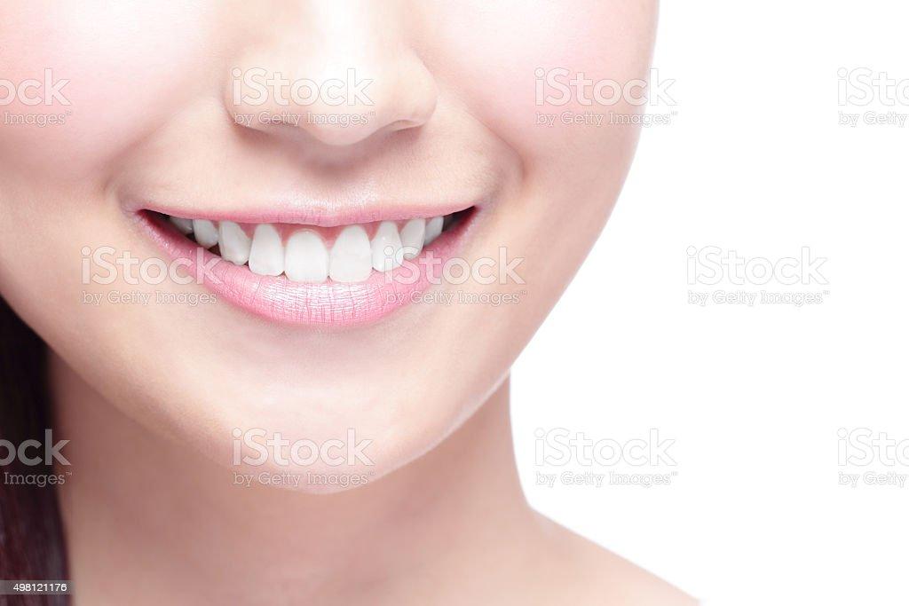 young woman health teeth stock photo