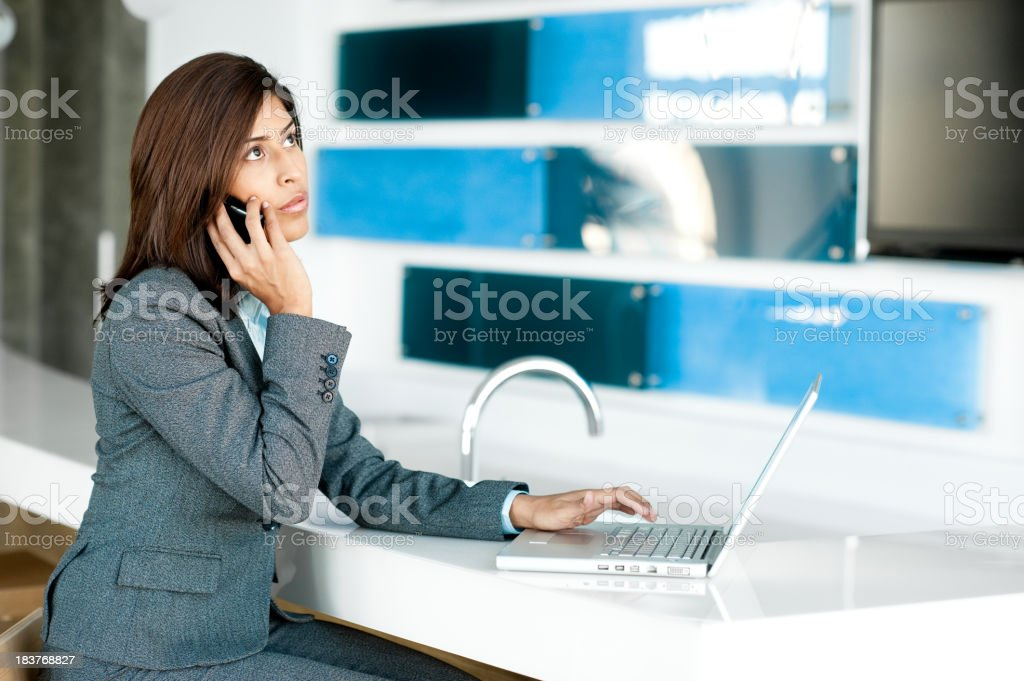 Young Woman Hispanic Businesswoman in Office royalty-free stock photo