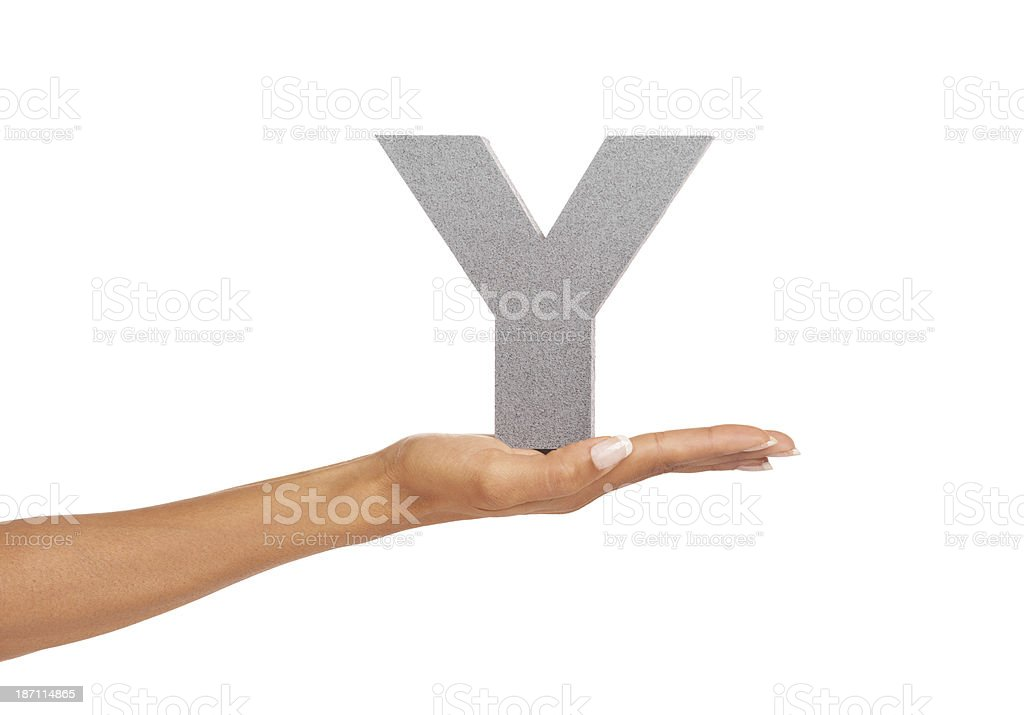 Y don't you practice your letters - Learning royalty-free stock photo