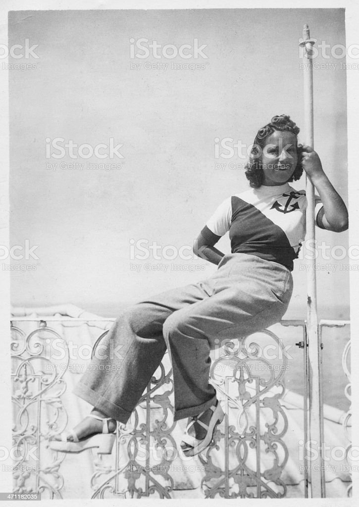 Young woman in 1935 royalty-free stock photo