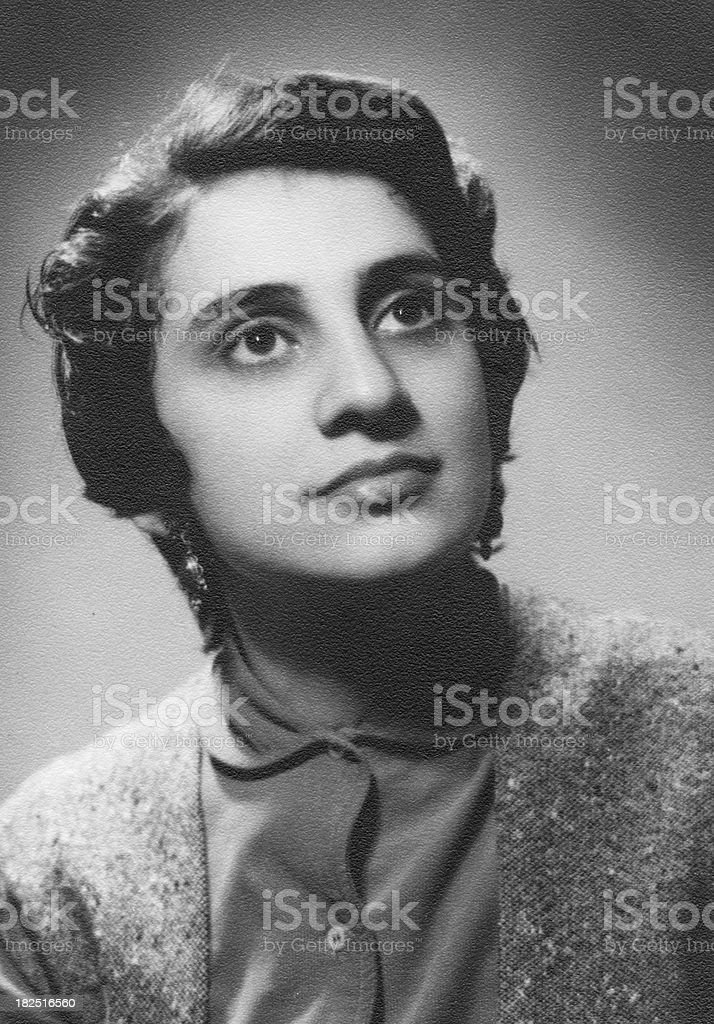 Young woman in 1952 royalty-free stock photo