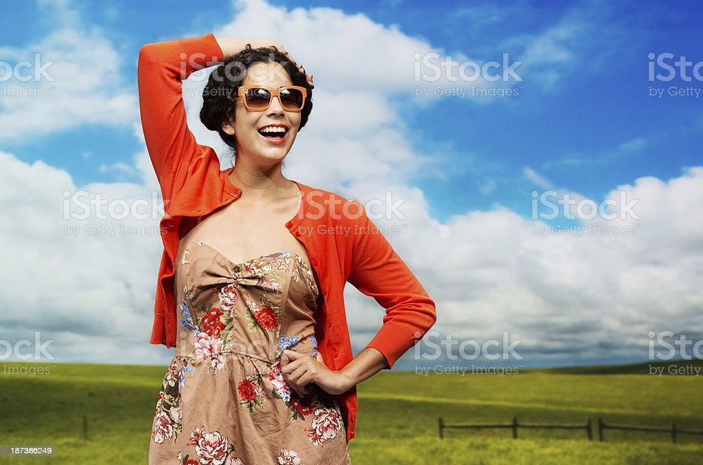 Young woman in a countryside royalty-free stock photo