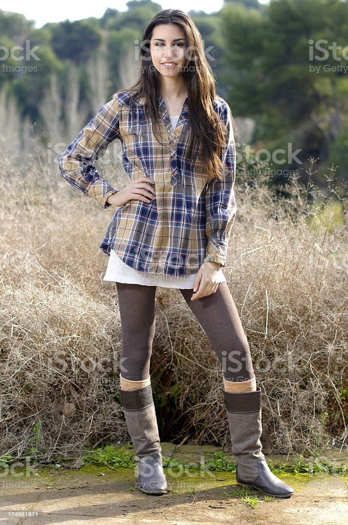 Young woman in a park royalty-free stock photo
