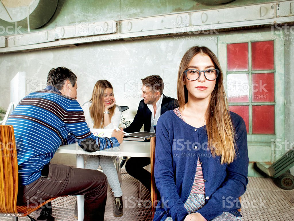 Young Woman in a Start Up Company stock photo