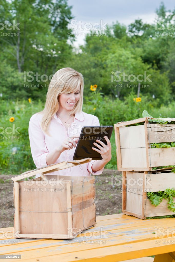 Young Woman in Agriculture royalty-free stock photo