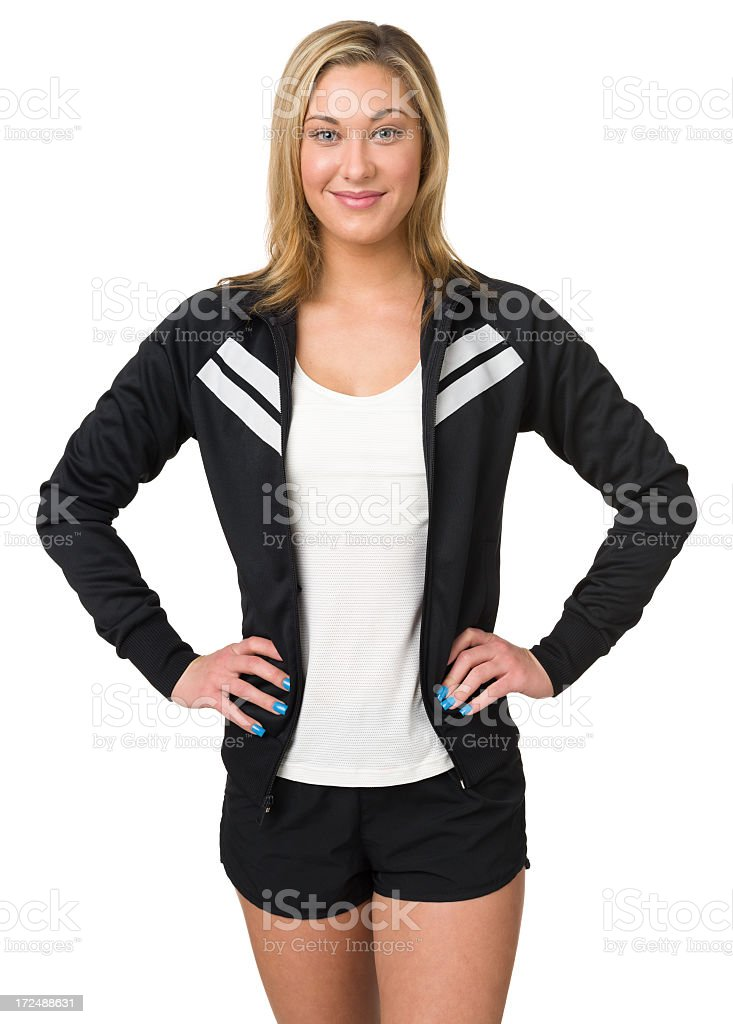Young Woman In Athletic Clothing royalty-free stock photo