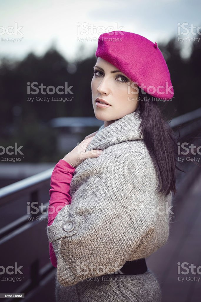 Young Woman In Autumn Fashion royalty-free stock photo