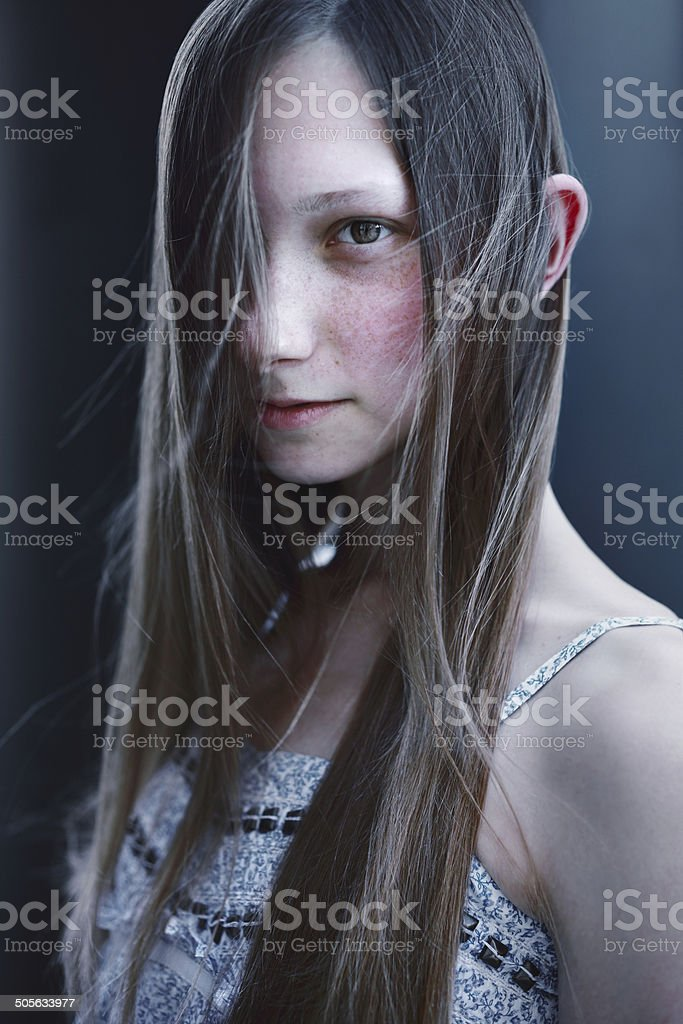 Young woman in dress royalty-free stock photo