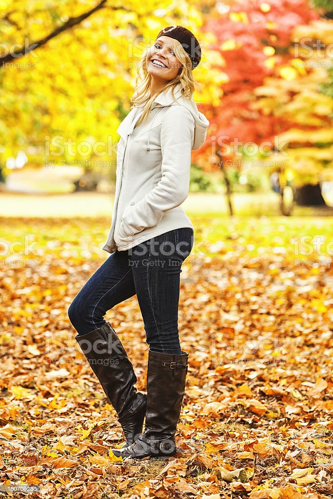 Young Woman in Fall Fashion royalty-free stock photo