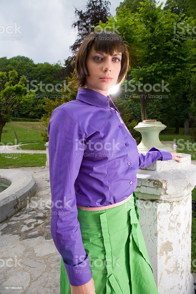 Young Woman in fancy clothes royalty-free stock photo