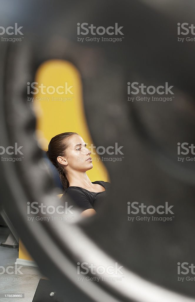 Young Woman in Fitness Club royalty-free stock photo