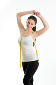 Young woman in fitness outfit