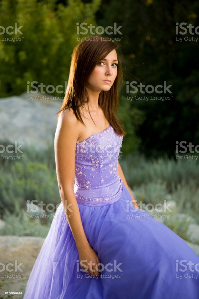 Young Woman in Formal Dress royalty-free stock photo