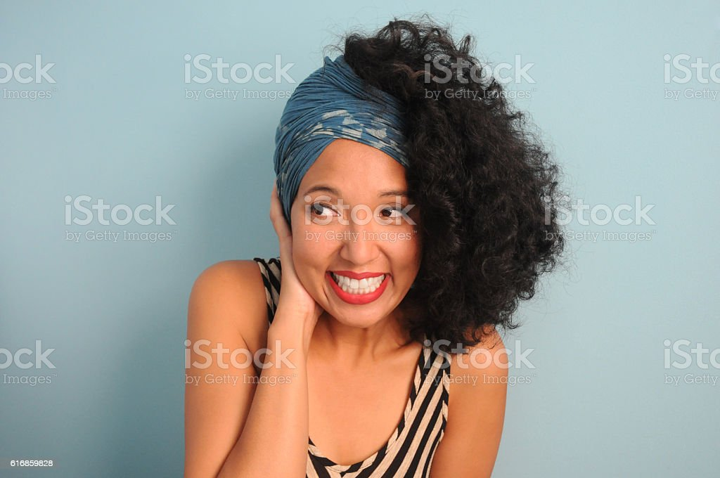 Young Woman in Headscarf stock photo