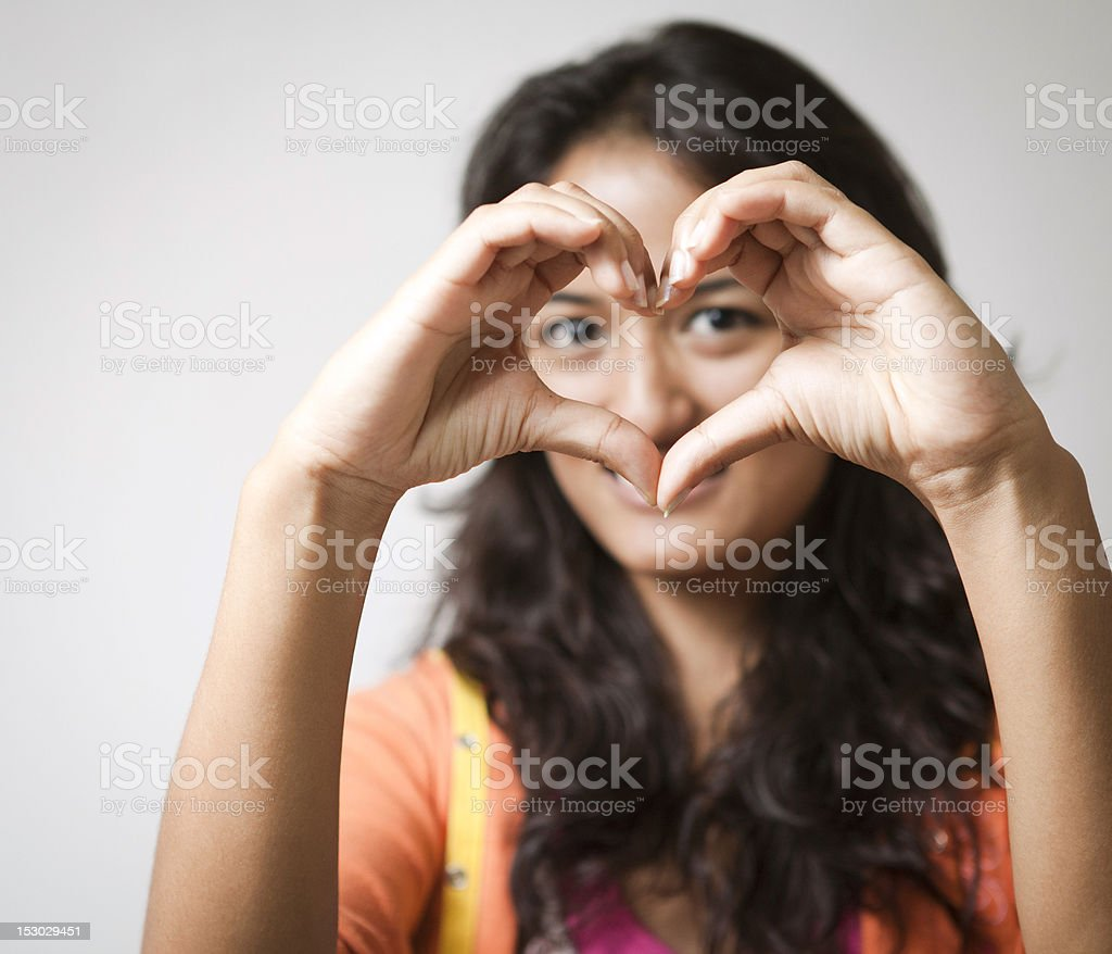 Young woman in love. stock photo