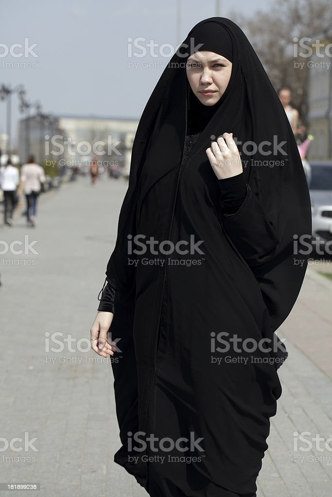 young woman in Muslim clothes royalty-free stock photo