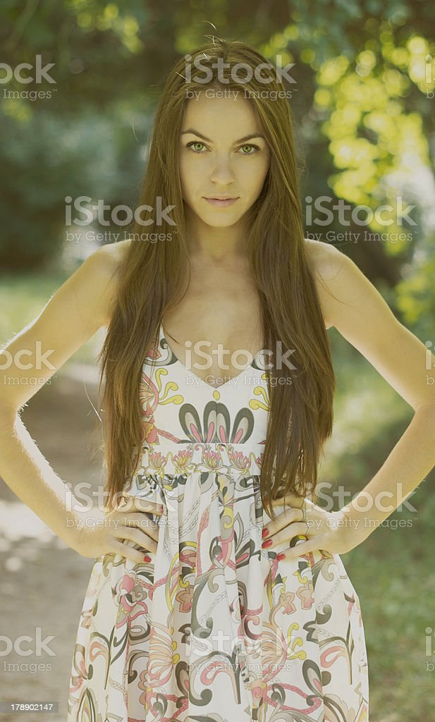 Young woman in nature royalty-free stock photo