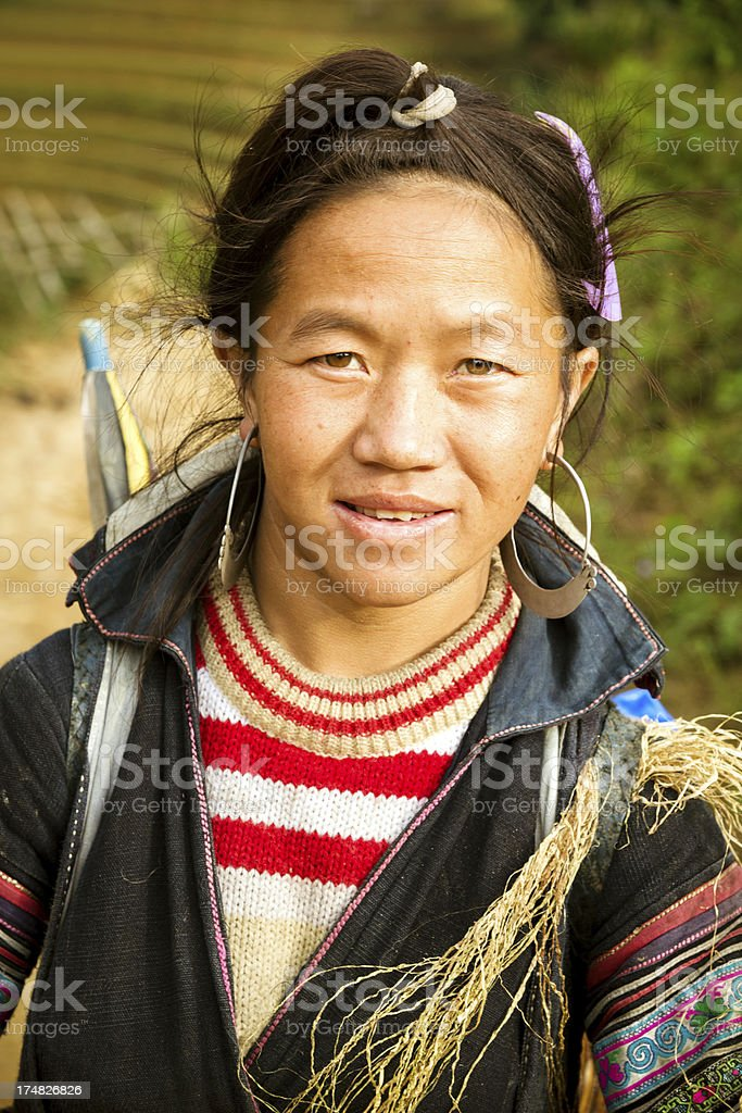 Young Woman in North Vietnam royalty-free stock photo