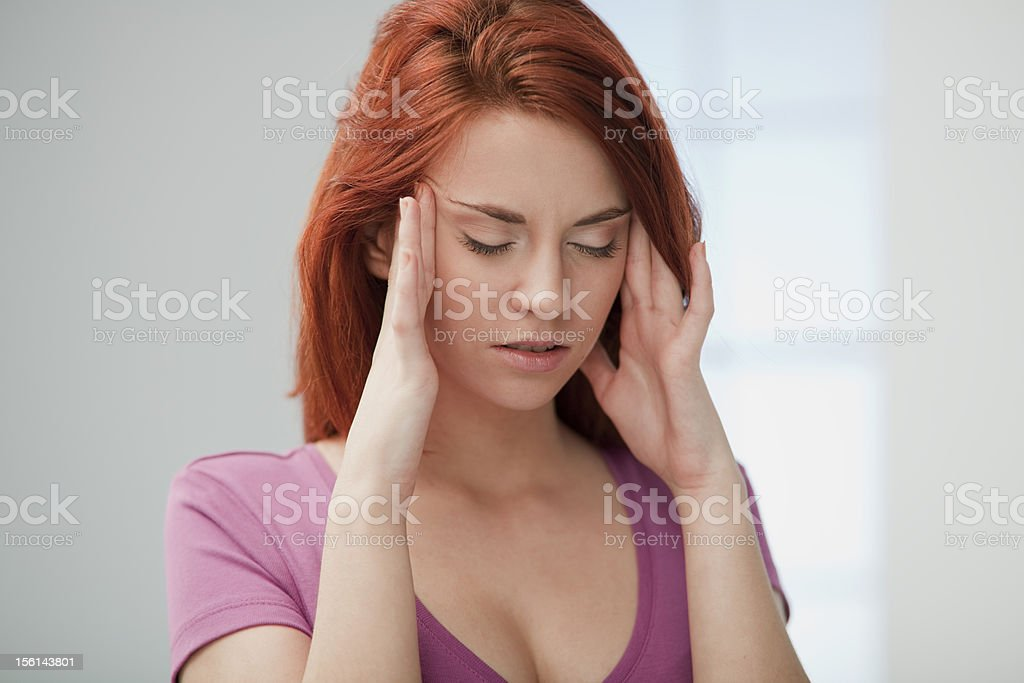 Young Woman in Pain. royalty-free stock photo