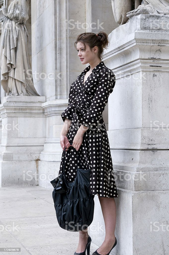 young woman in Paris looking to the future royalty-free stock photo