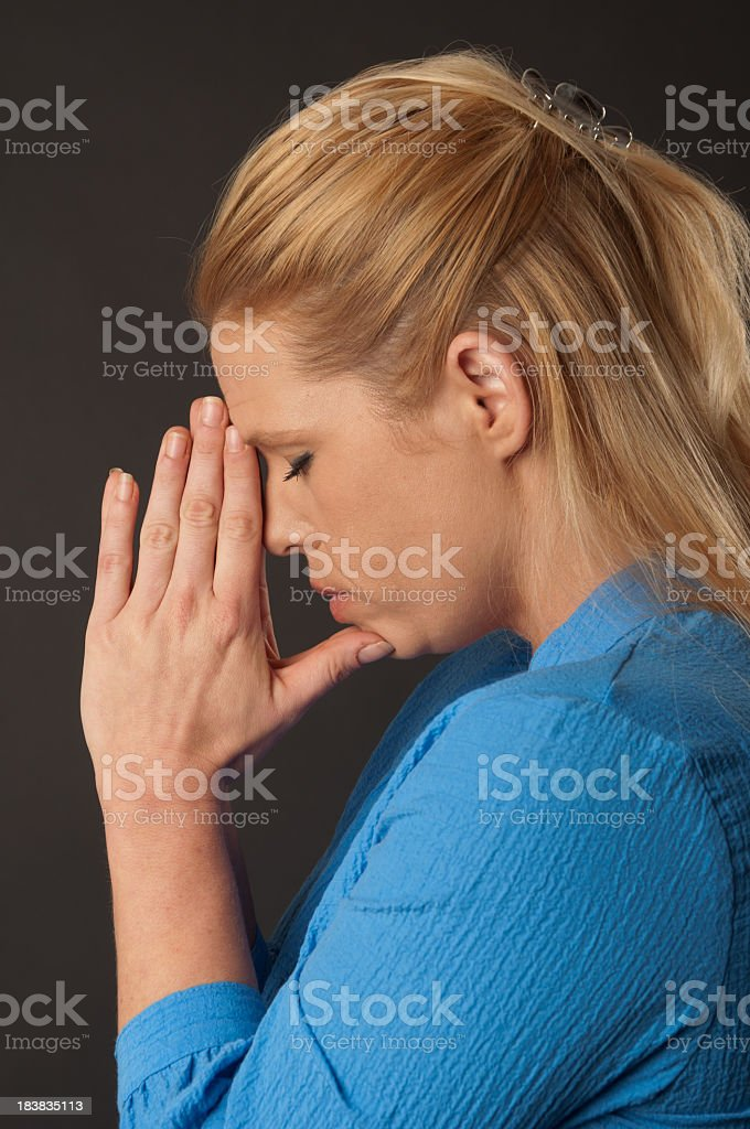 Young Woman In Prayer royalty-free stock photo