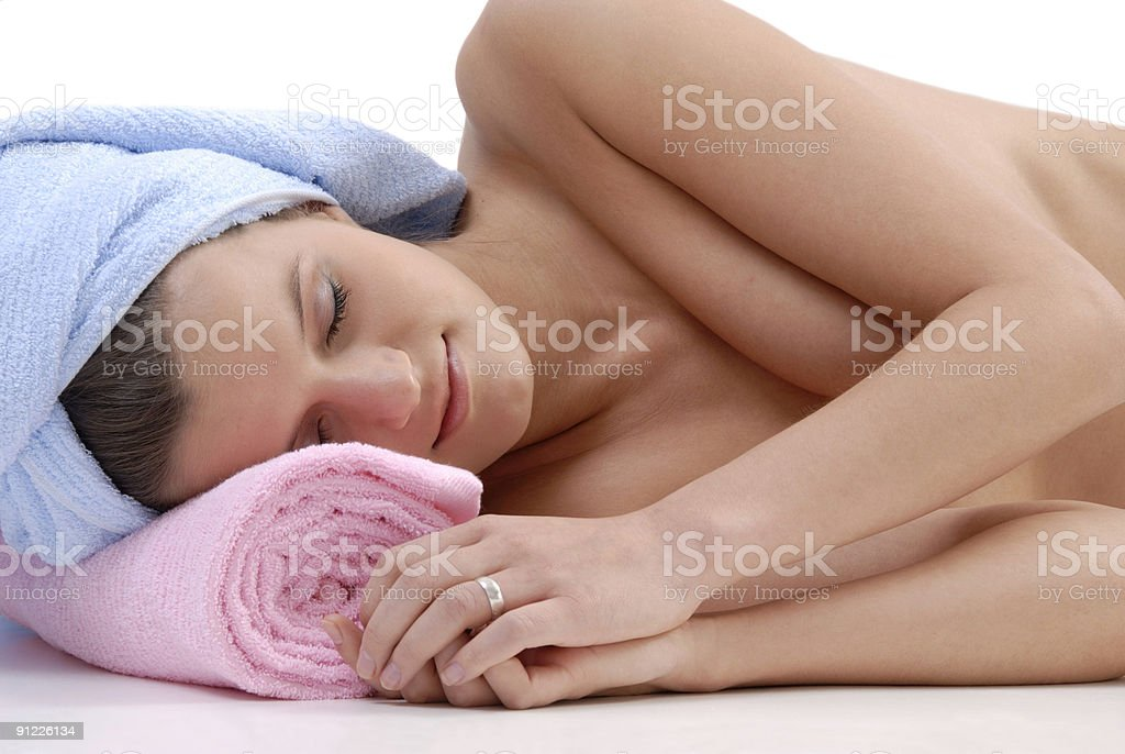 Young woman in spa royalty-free stock photo