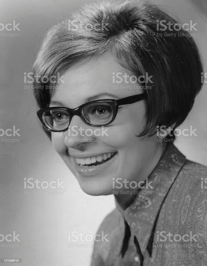 young woman in the 60's royalty-free stock photo