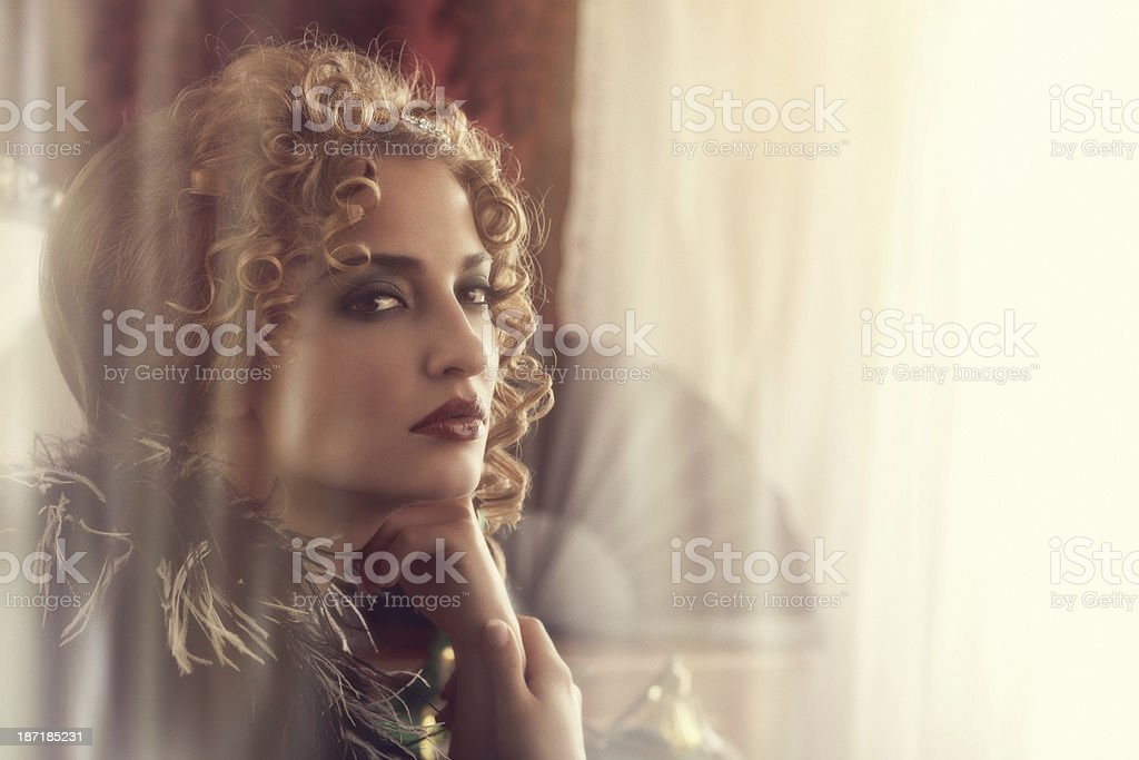 young woman in the boudoir royalty-free stock photo