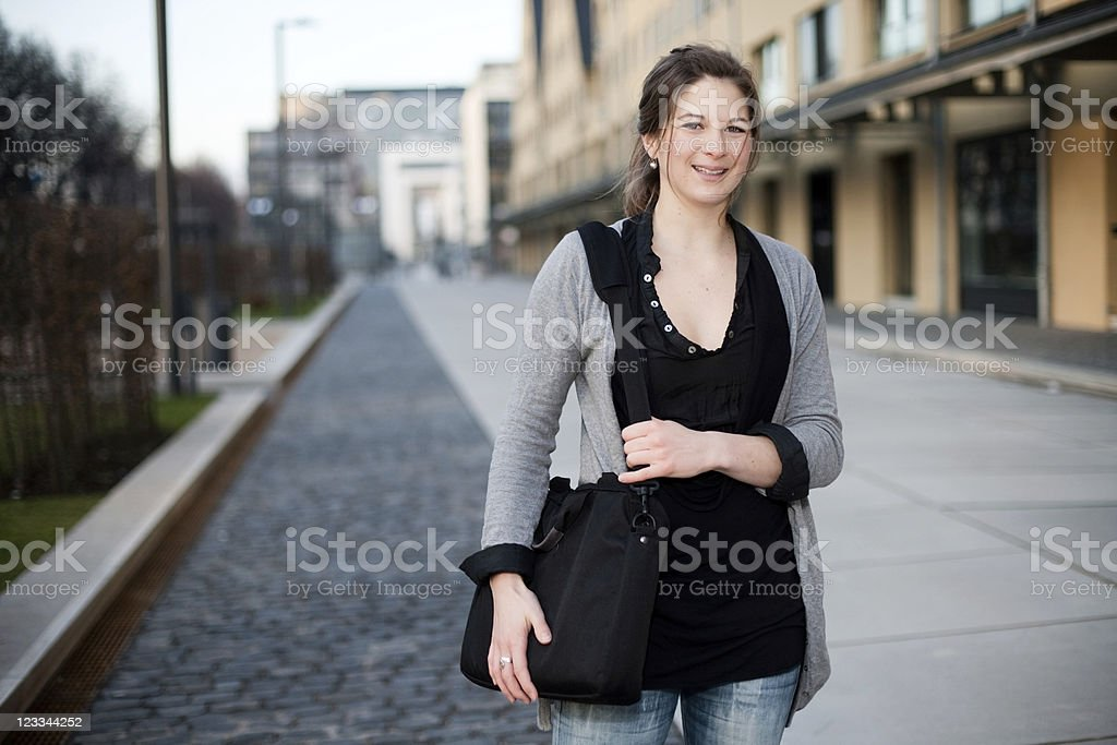 Young Woman In The City royalty-free stock photo