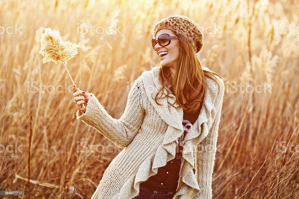 Young Woman In The Field royalty-free stock photo