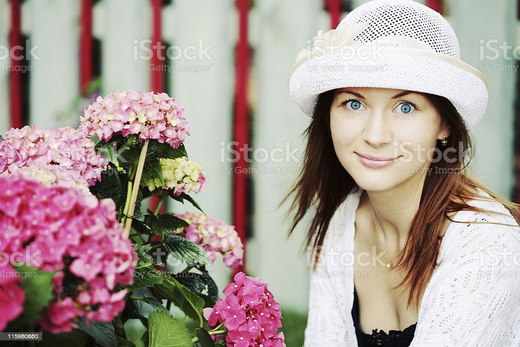 Young woman in the Garden royalty-free stock photo