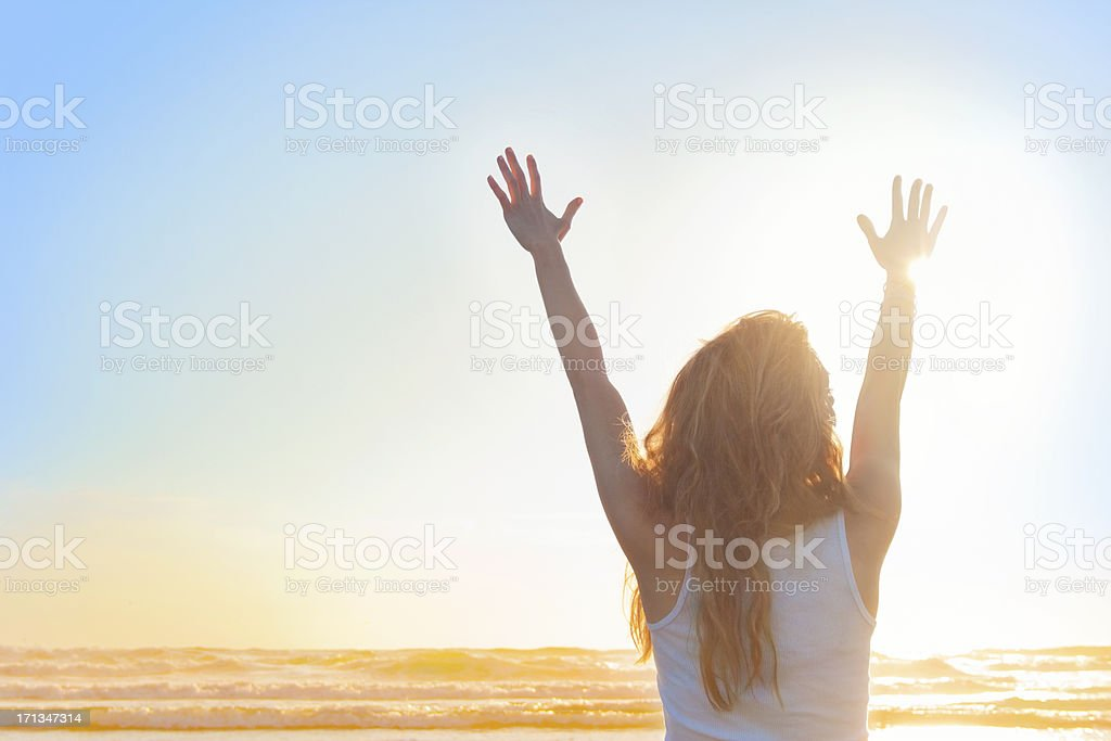 Young Woman in the Sun stock photo