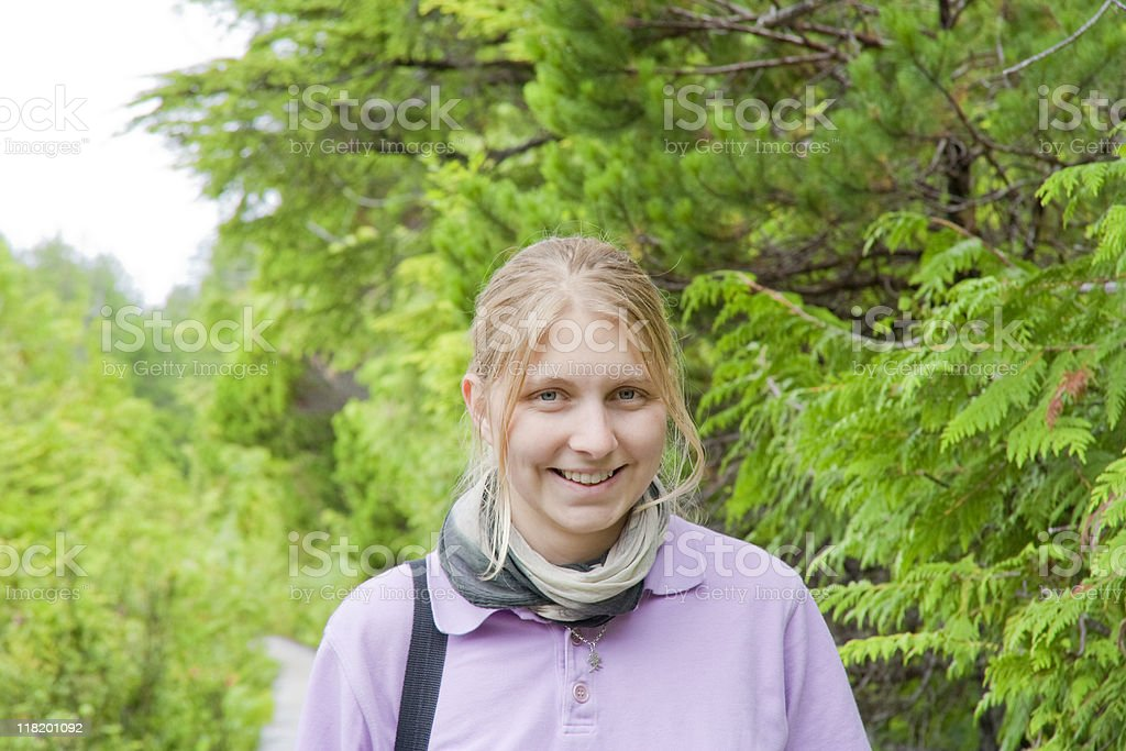 Young Woman in the Woods royalty-free stock photo