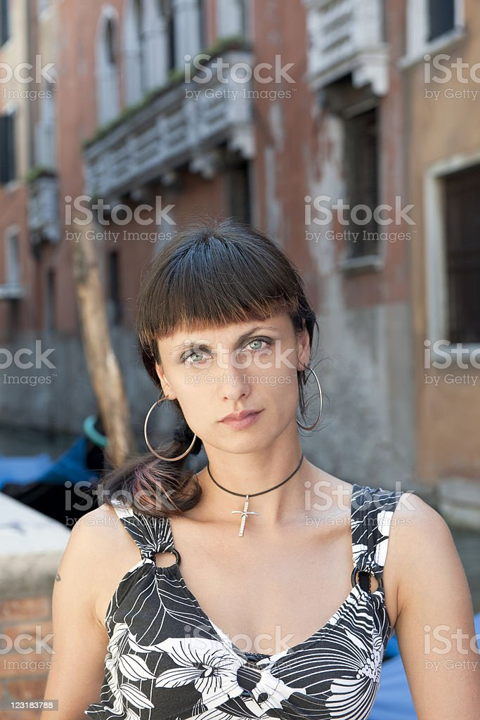 Young Woman in Venice Italy royalty-free stock photo