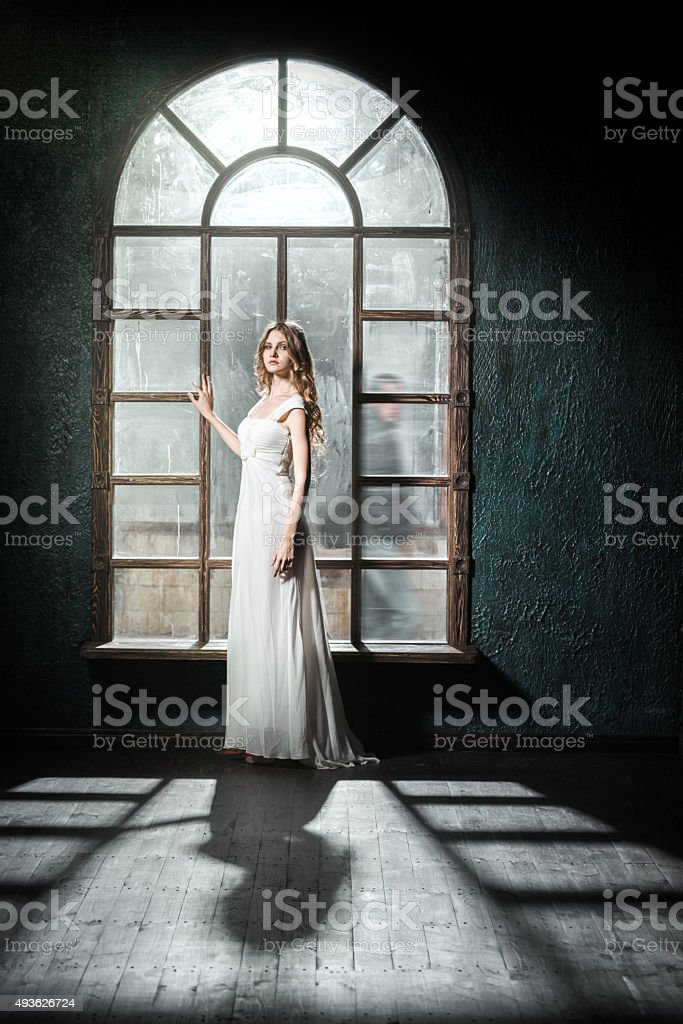 Young Woman In Waiting stock photo