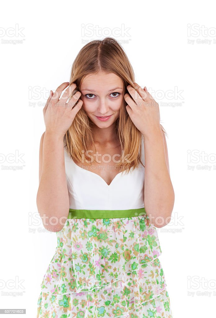 Young woman isolated stock photo